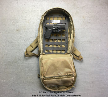 Pistol and tactical backpack with insert