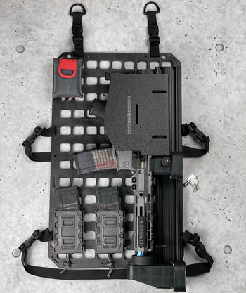 Vehicle Locking Rifle Rack - Raptor Rail Picatinny™ + LE Shield + 15.25 X 25 RMP™