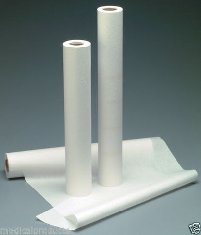 "NEW Exam Table Paper 21"" x 225' Smooth, White 12 Rolls"