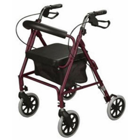 Curved Back Soft Seat Rollator Walker with Wheels