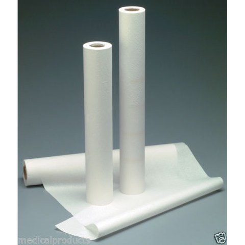 "Exam Table Paper 18"" x 125' Crepe, White 12 Rolls"