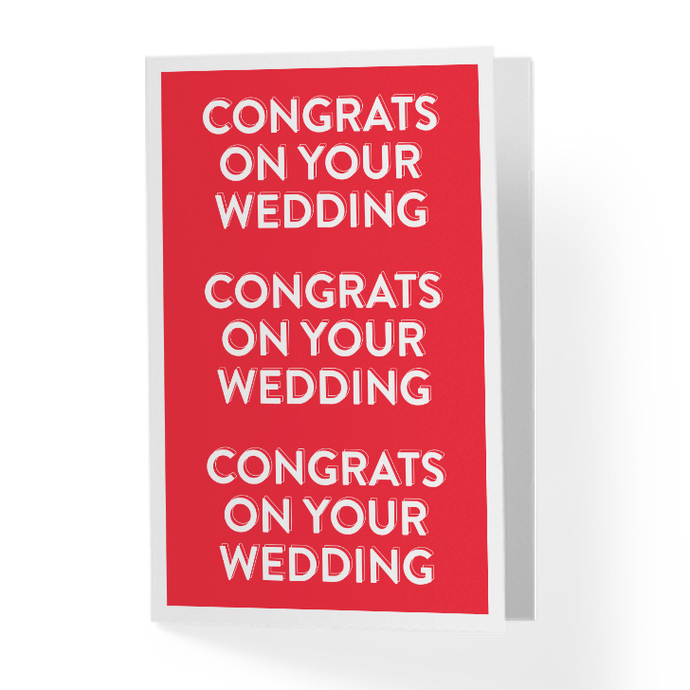 Congrats On Your Wedding Greeting Card