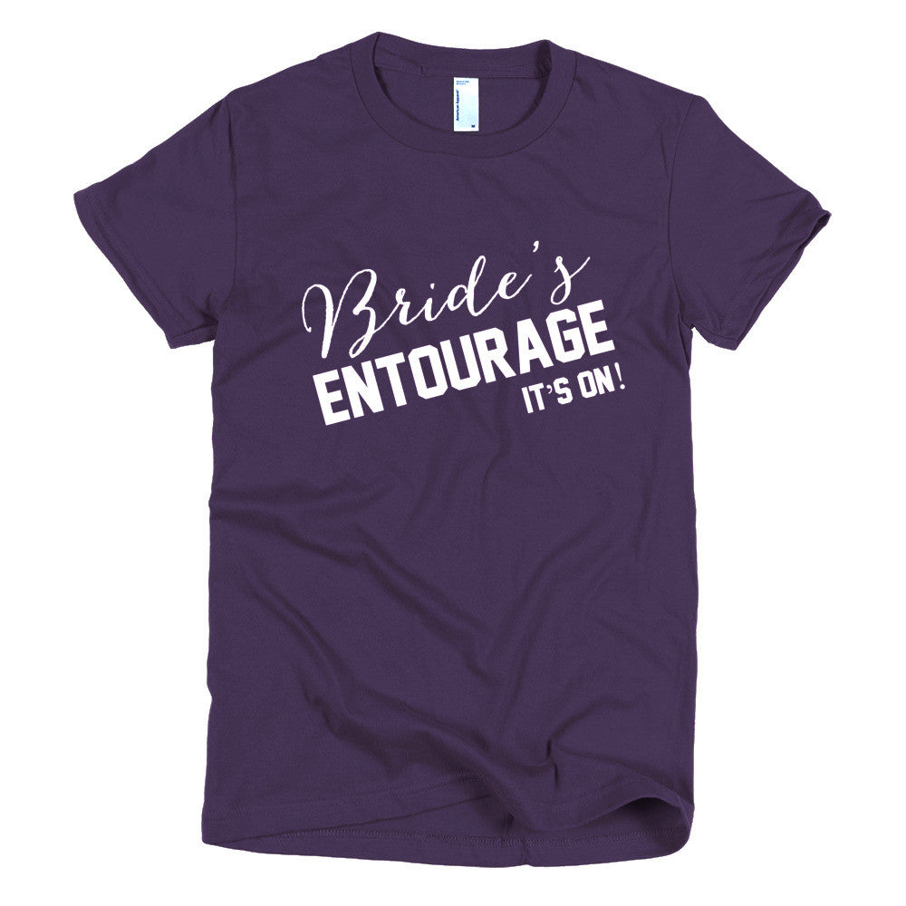 Short sleeve women's Bridal Party t-shirt