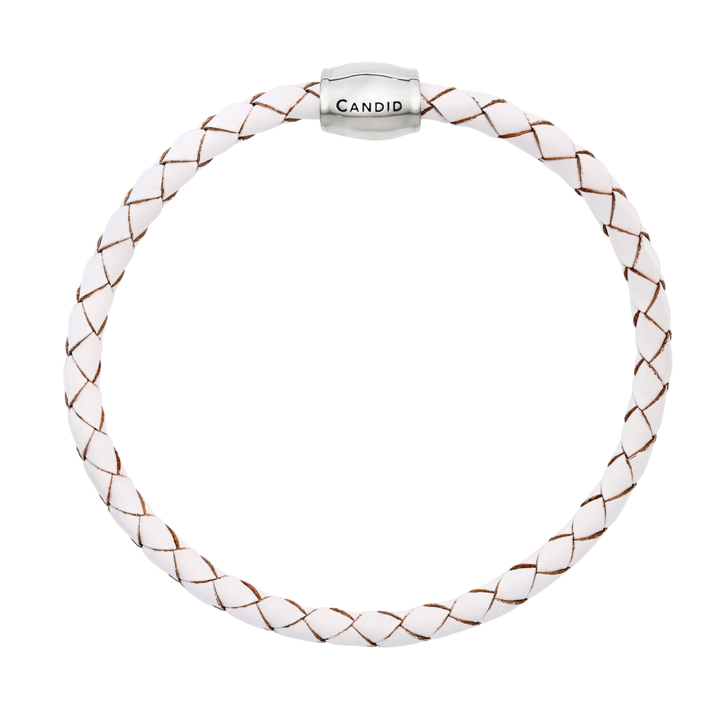 Plaited leather bracelet