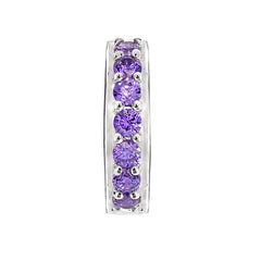 Stopper with purple cubic zirconia