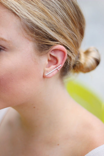Minimalist Ear Crawler Earrings