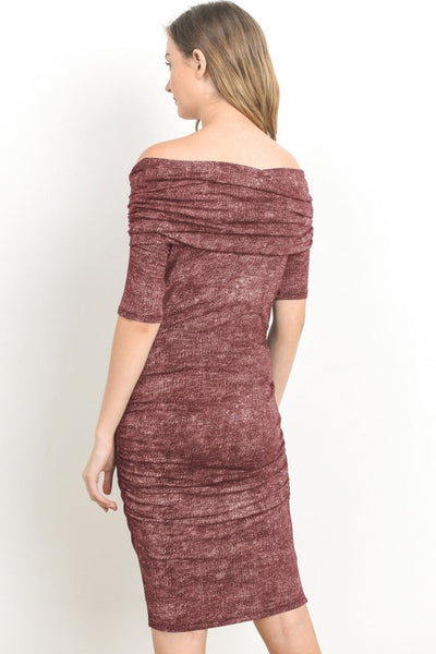 Women's Off-Shoulder Maternity Sweater Dress