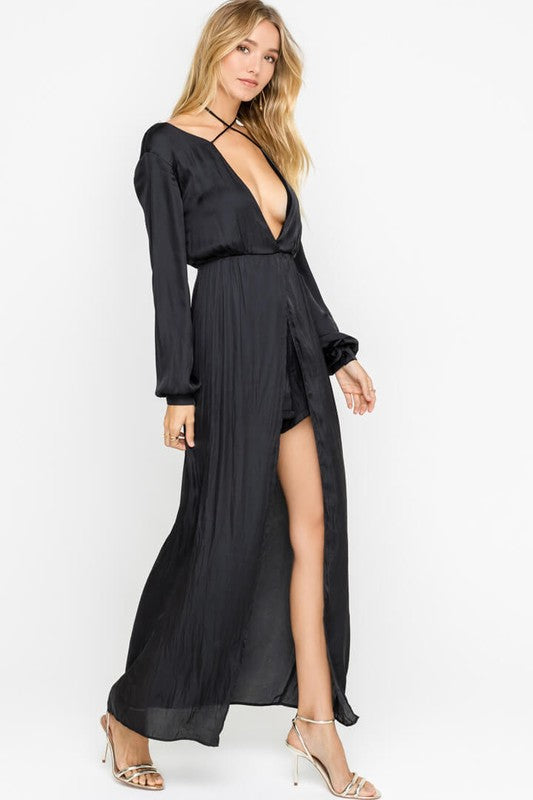 356924c62f4 ... sultry long sleeve maxi romper ...