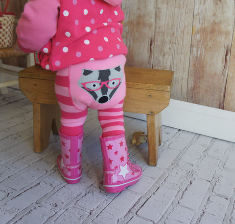 Pink Star Wellington Child's Boots