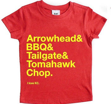 I Love KC Child's Kansas City Chiefs Shirt