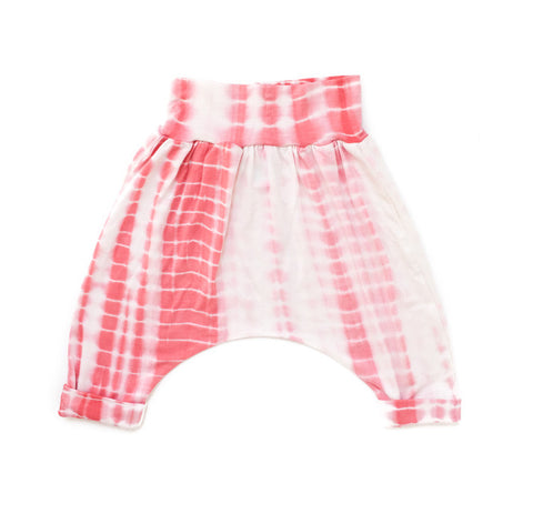 Strawberry & Cream Tie Dye Cropped Harem Pants
