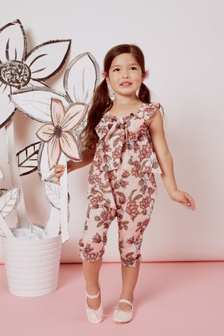 Girl's Flower Power Romper