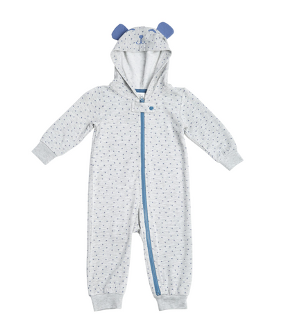 Marley Hooded Onesie-Navy