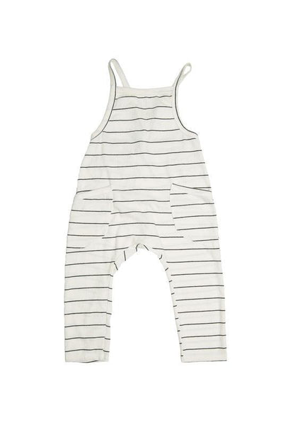 Peyton Child's Romper (Ivory and Pink)