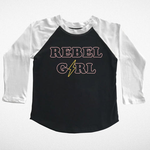 Rebel Girl Long Sleeve Raglan Tee
