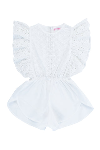 Girl's Delphine Lace Playsuit