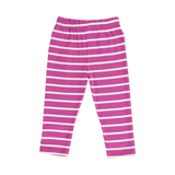 Orchid Striped Child's Leggings