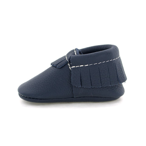 Navy Baby Moccasins