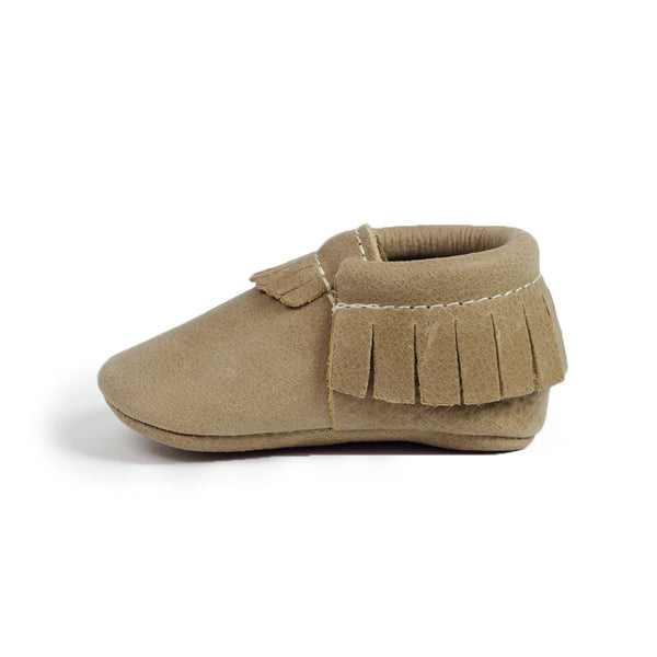 Freshly Picked Weathered Brown Infant Moccasins
