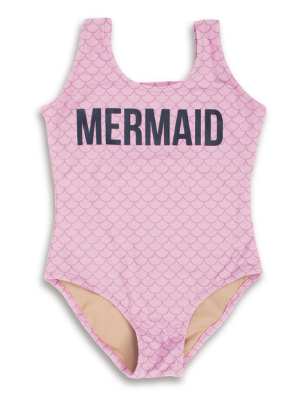Mermaid 1 Piece Girls Swimsuit (Scales Appear When Wet)