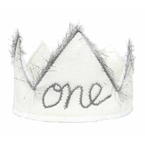 "Baby ""One"" Birthday Crown"