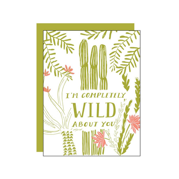 I'm Completely Wild About You Greeting Card