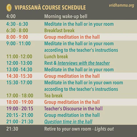 vipassana-course-schedule
