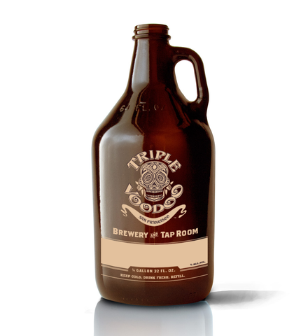32oz Growler filled with your favorite beer