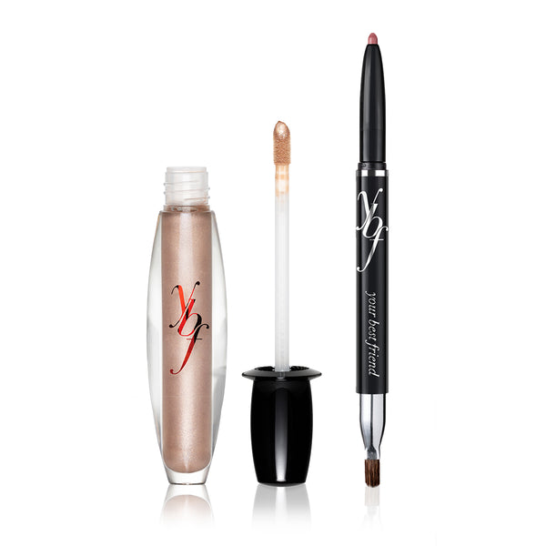 creme brulee lip gloss & your best lip liner in spice