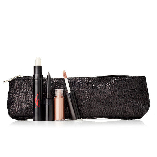 line, refine & shine eye trio with cosmetic bag