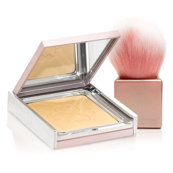 neutralizing pressed powder in pink packaging