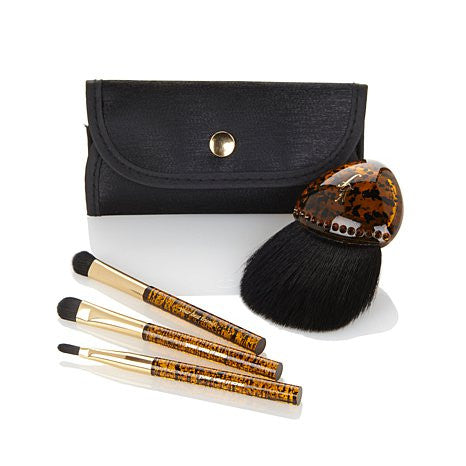 stunning faux tortoise shell brush collection