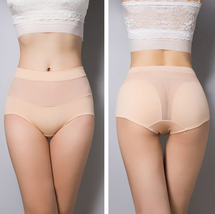 Cotton briefs hollow out high waist panties - youandbeautifulpeople