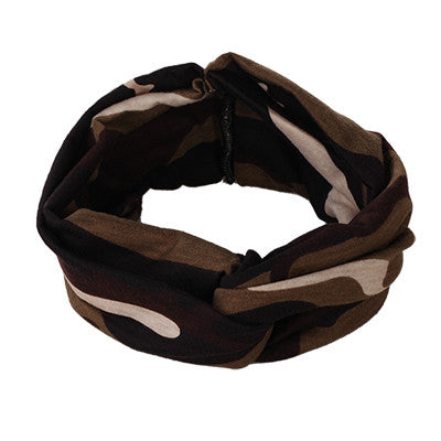 Fashion Retro Women Elastic Turban Twisted Knotted Headband - youandbeautifulpeople