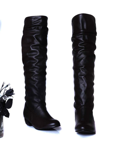 VALLKIN New Women Suede Sexy Fashion Over the Knee Boots Sexy
