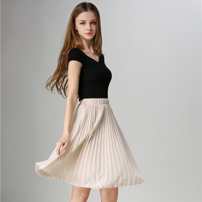 Pleated Skirt Autumn/Winter 2016 European Style Elegant Tulle - youandbeautifulpeople