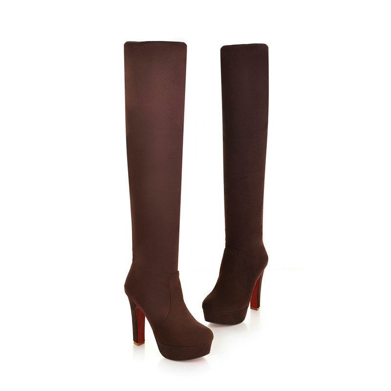 VALLKIN New Women Suede Sexy Fashion Over the Knee Boots Sexy - youandbeautifulpeople