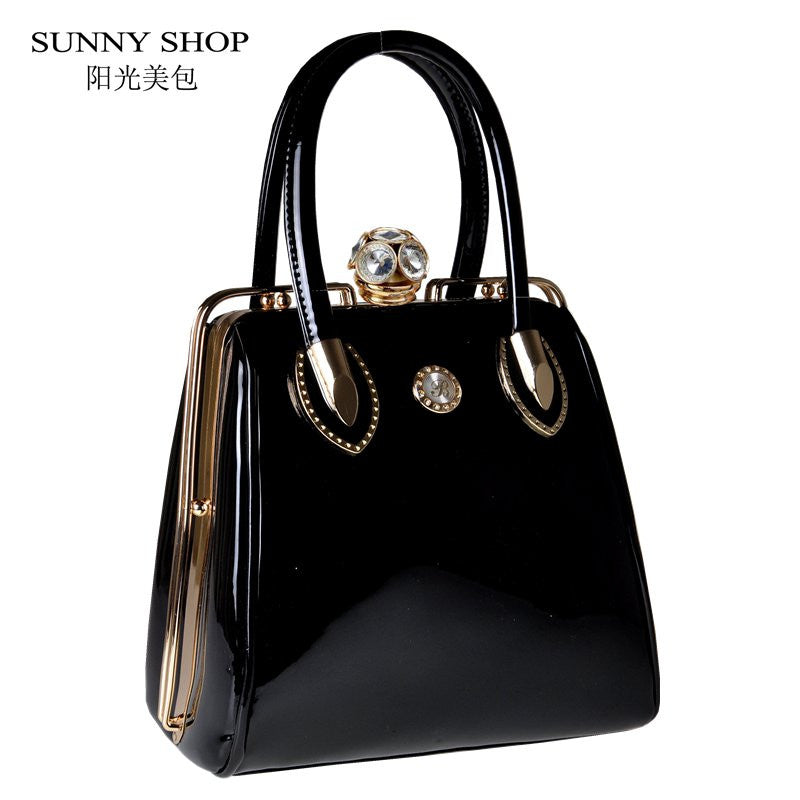 SUNNY SHOP  Fashion Skull Diamonds Women Bag Crystal Ladies Evening Bag  Bride Tote Bag Women Wedding Handbag Brand Designer - youandbeautifulpeople