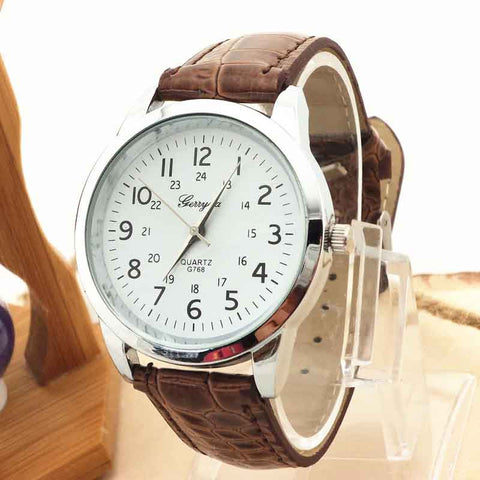 Luxury Leather Watch from Quartz(Free Shipping Today)