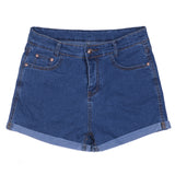Summer High Waist Stretch Denim Shorts - youandbeautifulpeople