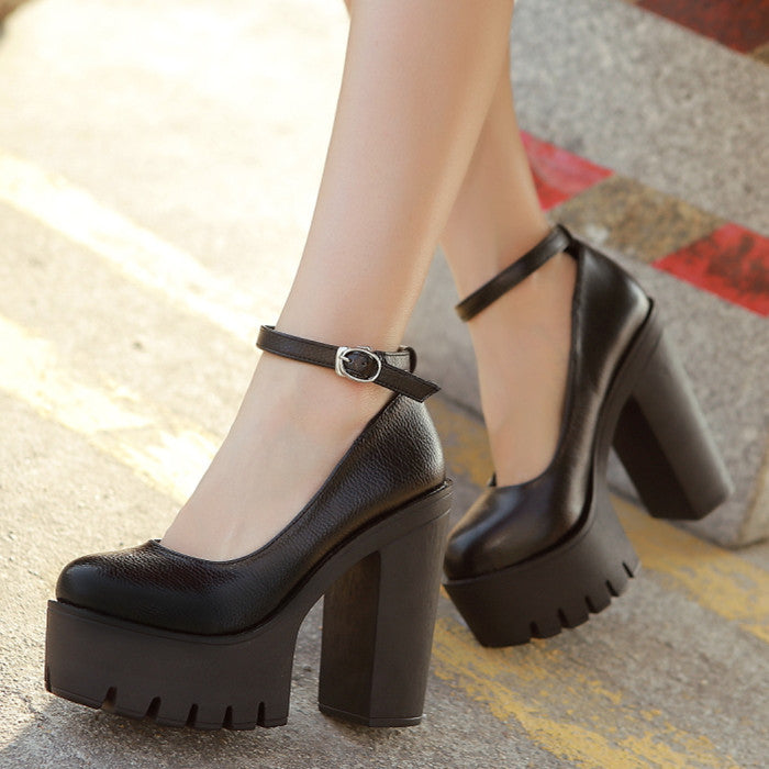 Autumn casual high-heeled shoes - youandbeautifulpeople