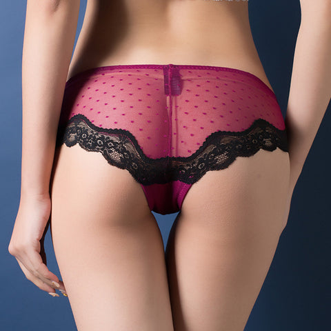 Cotton briefs hollow out high waist panties