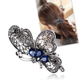 Fashion blue butterfly hair clip for women luxurious girls hair accessories trendy animal hairs accessoires jewelry china - youandbeautifulpeople