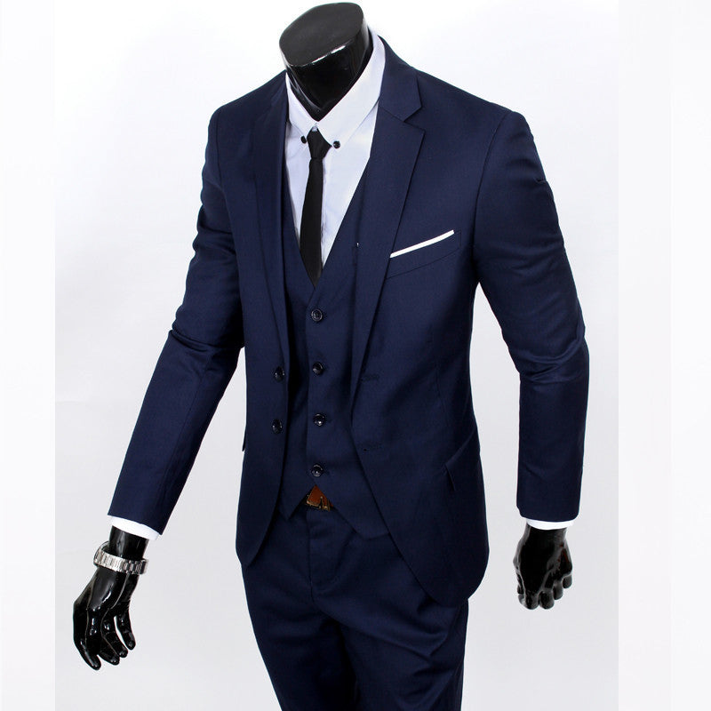 slim fit business a three-piece suits