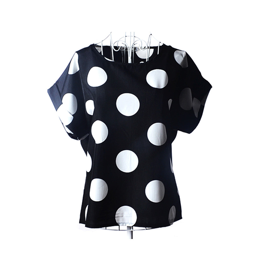 Black and White Polka Dot - youandbeautifulpeople