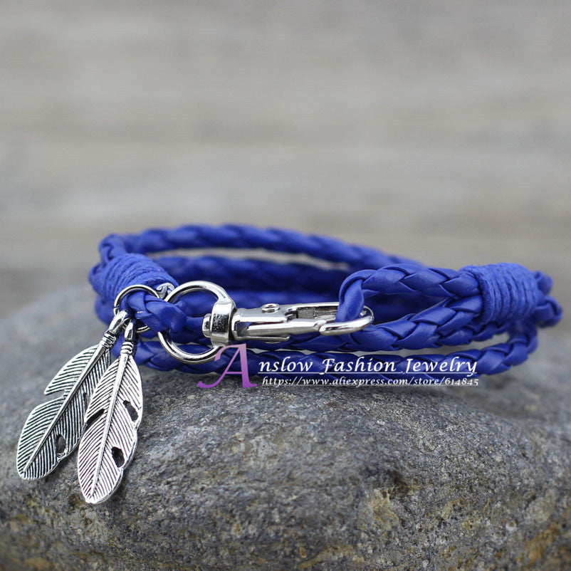 Leather Charm Friendship Bracelets - youandbeautifulpeople