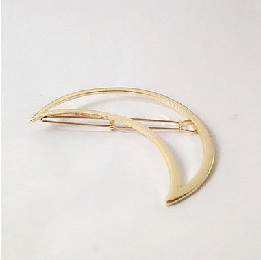 Vintage Gold/ Silver Color Metal Triangle Hairpin