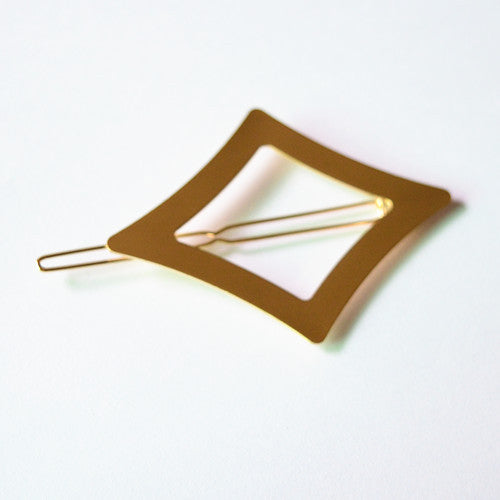 Vintage Gold/ Silver Color Metal Triangle Hairpin - youandbeautifulpeople