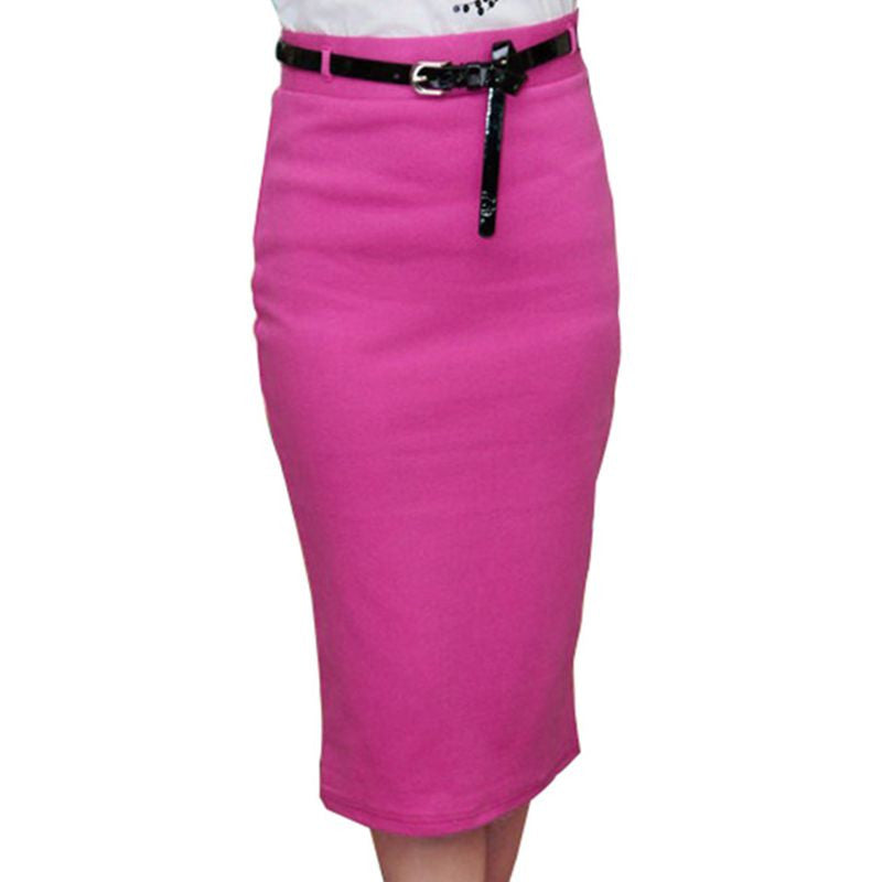 Slim  Fitted Knee Lengthy Skirt - youandbeautifulpeople