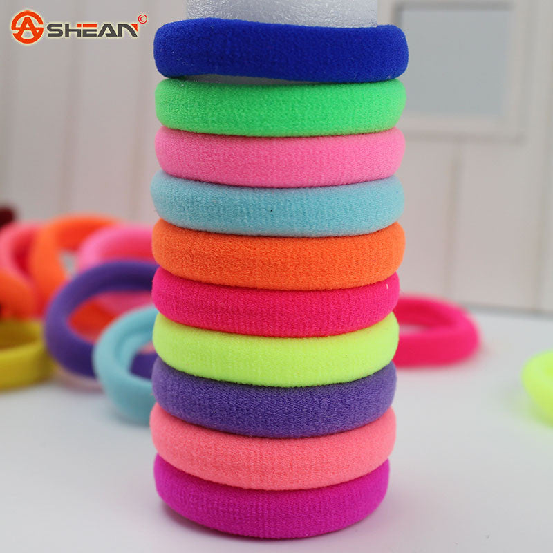 10pcs/lot Candy Fluorescence Colored Hair Holders High Quality Rubber Bands - youandbeautifulpeople